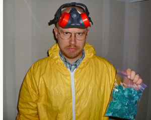 Guy dressed as Walter White Meth Cook