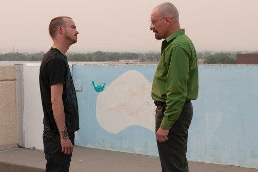 Walter White and Jesse Talking