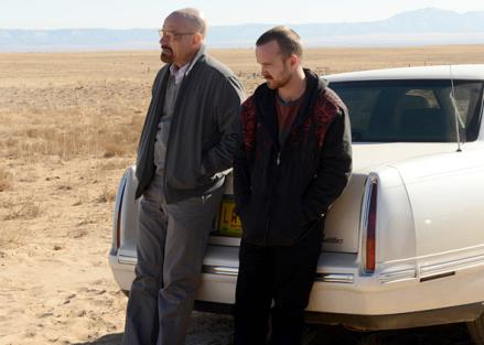 Walter White with Jesse Breaking Bad