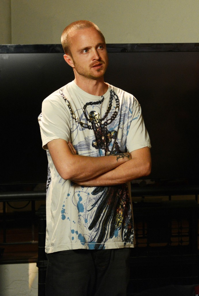 Jesse Pinkman from Breaking Bad in a White t-shirt